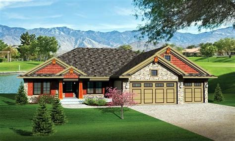 ranch house plans   car garage ranch house plans  basements ranch craftsman house