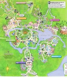 2016 Disney Animal Kingdom Map