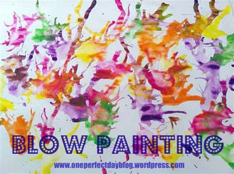 crafts poster paint think crafts by createforless 642   Painting Without a Brush Blow Painting One Perfect Day