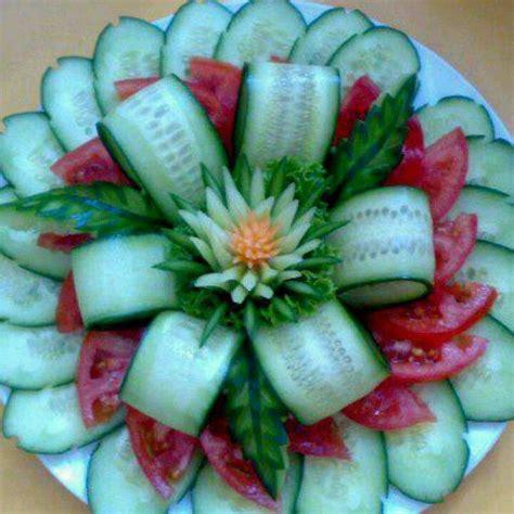 cucumber salad decoration cucumber tomato salad beautiful presentation must try