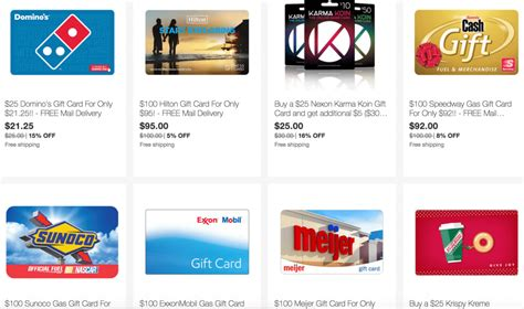 Expired Ebay Save On  Ee  Gift Ee   Cards From Hilton Exxon