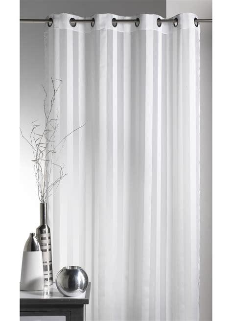 voilage blanc grande largeur voilage blanc grande largeur 224 rayures verticales blanc homemaison vente en ligne voilages