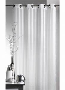 Kit Rayure Vitrage : voilage tiss rayures blanc achat voilages ~ Premium-room.com Idées de Décoration