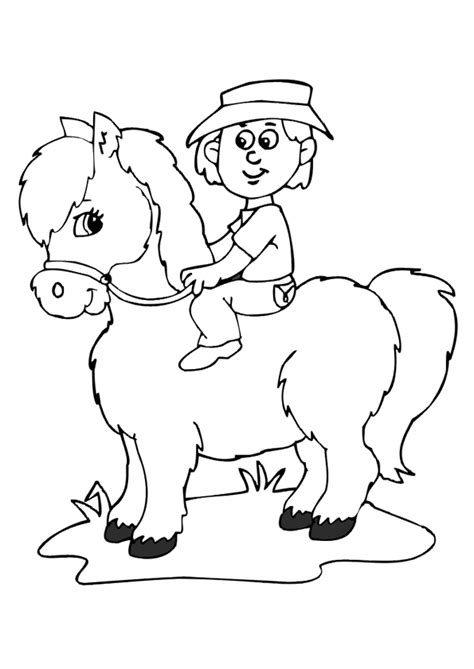 coloriage poney les beaux dessins de animaux  imprimer