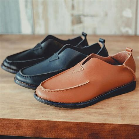 Prelesty Fashion Casual Shoes Men Genuine Leather Loafers