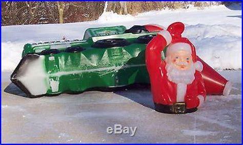 santa   train blow mold jumbo indoor outdoor christmas