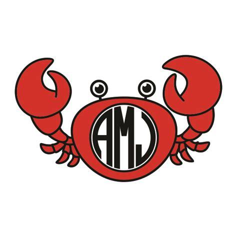 crab monogram patterns svg cuttable frames