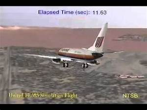 NTSB - United Airlines 585 - [Rudder malfunction] - YouTube