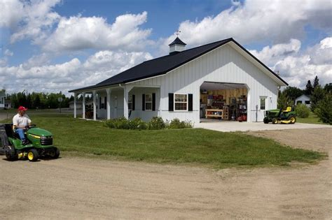 Barn With Black Trim by Mike S Garage 187 Morton Buildings 187 3654 The