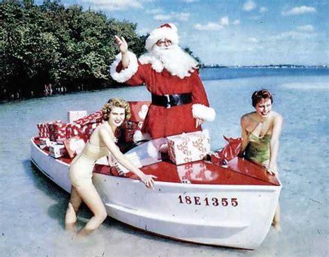 celebrating christmas  south florida waters coastal