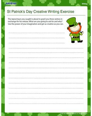 st patricks day creative writing kids exercise jumpstart