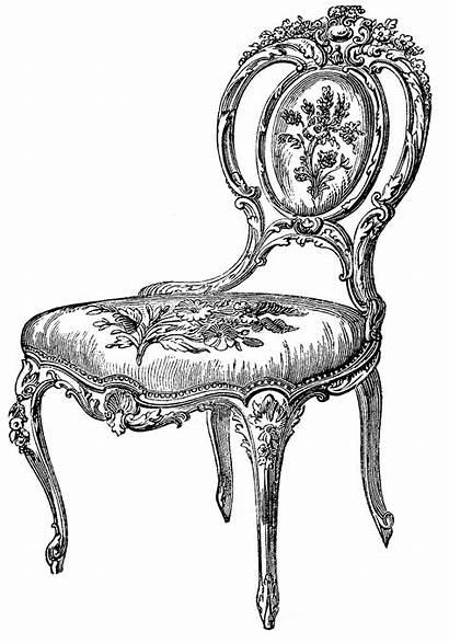 Chair Clip Chairs Clipart Graphics Fairy Antique