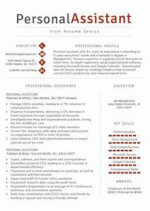 Professional Cover Letter Examples Personal Assistant Resume Sample Writing Tips Resume