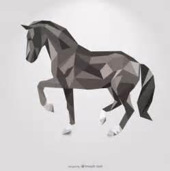 Geometric Horse Tattoo Design