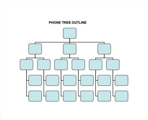 printable phone tree templates  excel