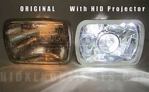 7x6 Diamond Projector Headlight H4 German Hid Kit 6000k