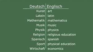 Hier Auf Englisch : englisch lernen die schulf cher youtube ~ A.2002-acura-tl-radio.info Haus und Dekorationen