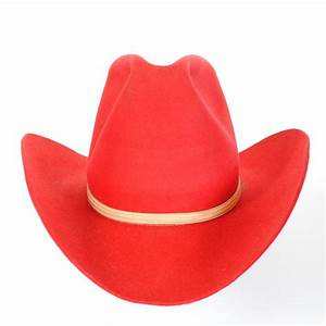 Vintage Red Cowboy Hat is a Cokers Western Hatters