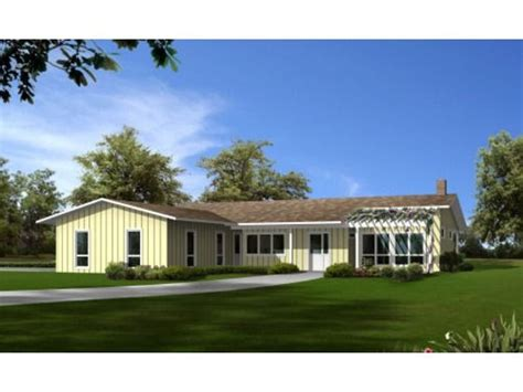 open concept  shaped ranch big dream home pinterest house plans squares  garage
