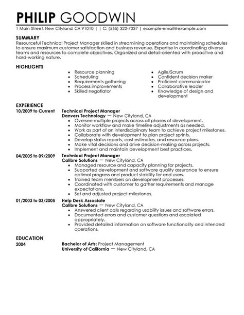 exles of resumes a sle resume for internship