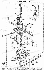 Yamaha Atv 1987 Oem Parts Diagram For Carburetor