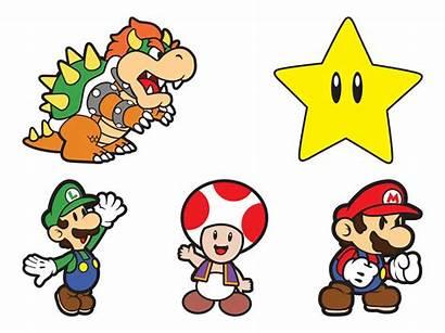 Mario Characters Super Vector Cartoon Bros Character