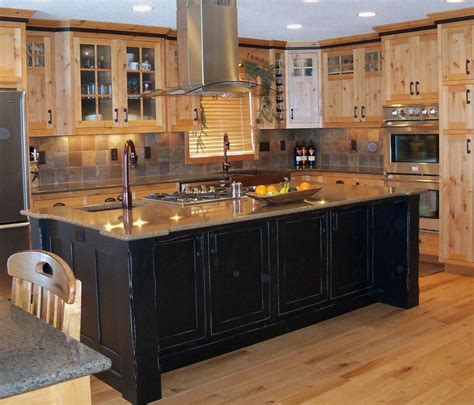 kitchen island furniture style using wall cabinets as bases for a unique kitchen island 5073