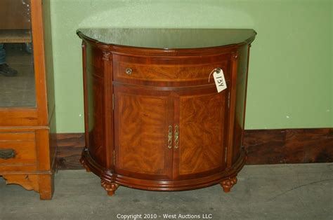 half round entry table west auctions auction northern california estate