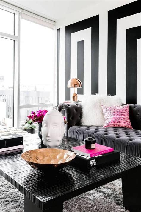 black  white modern home decor ideas living