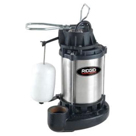 Ridgid Ultra Quiet Stainless Steel Sump Pump1000rs The
