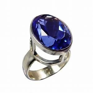 Pierres Précieuses Bleues : bague quartz de sib rie bague imposante bleue ~ Nature-et-papiers.com Idées de Décoration