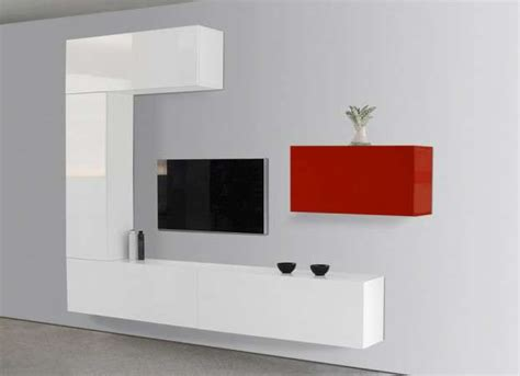 ensemble tv mural laqu 233 achatdesign