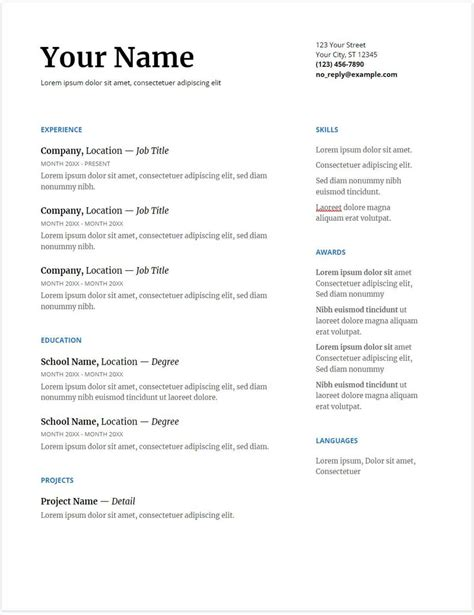 Resume Template by 30 Docs Resume Templates Downloadable Pdfs