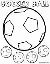 Ball Soccer Coloring Pages Colorings Soccerball sketch template