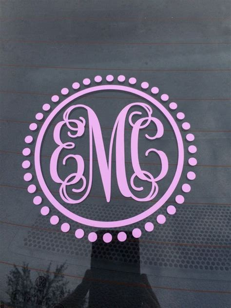 car monogram decal car sticker vine monogram car decal initials  car coral car decal monogram