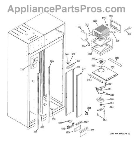 parts  ge zissdxass freezer section parts appliancepartsproscom