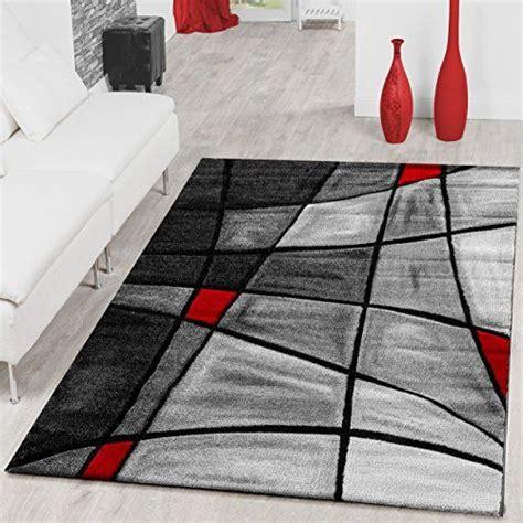 tapis salon tapis porto contours decoupes dans gris rouge