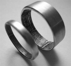 fingerprint ring With wedding ring with fingerprint