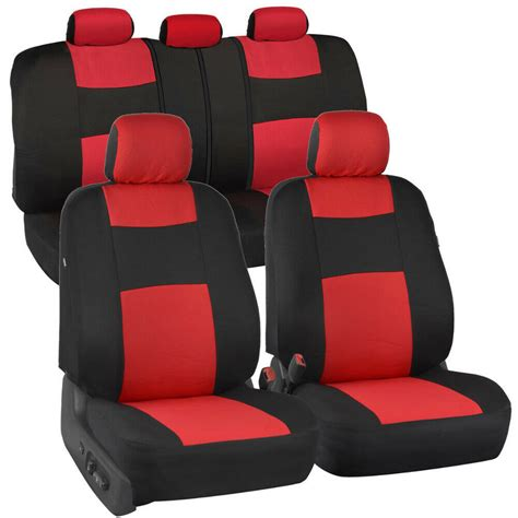 Bench Seat Covers For Cars by Car Seat Covers Black Polyester Cloth Front Rear