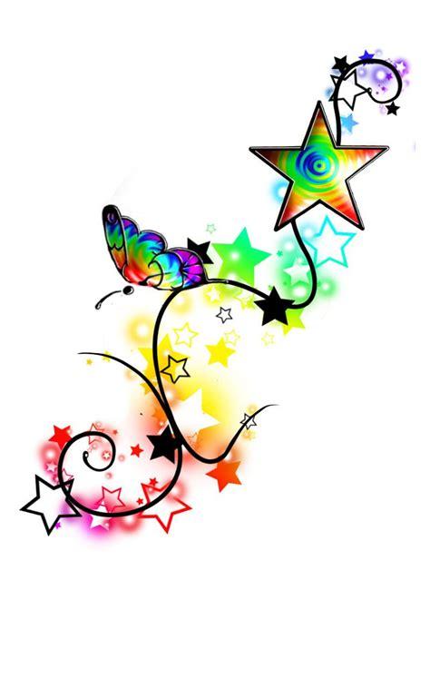 rainbow tattoo ideas rainbow butterfly stars tattoo