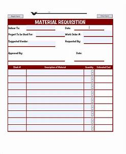 purchase requisition form template hunecompanycom With construction material request form template