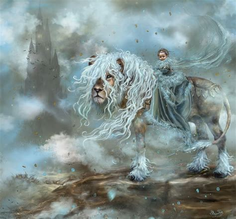 fantasy lion art dreamland abstract castle child