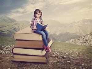 girl books reading mountain nature HD wallpaper