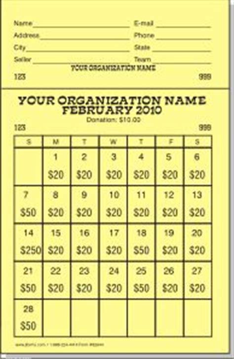 large calendar raffle ticket theraffleticketstorecom