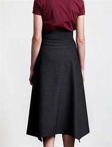 Butter Long High Waisted Skirt Slate | Garmentory