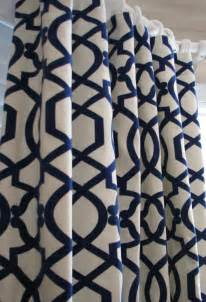 Geometric Pattern Curtains Uk pair of decorative designer custom curtains drapes navy on