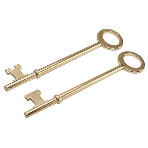 Kitchen Hardware Ideas - shop hillman brass plated skeleton keys at lowes com