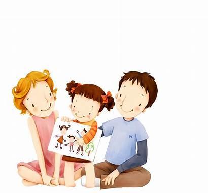 Clipart Father Parent Mother Parents Cartoon Child