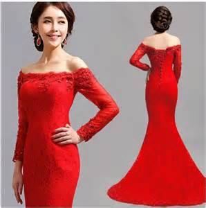 Off the Shoulder Red Mermaid Dress