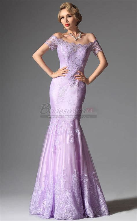 lilac bridesmaid dresses the shoulder lace organza lilac mermaid bridesmaid dress in purple with sleeve